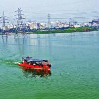 Hatirjheel attracts visitors for its natural beauty